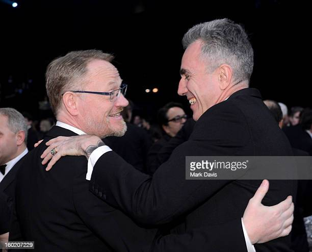 Actors Jared Harris and Daniel Day-Lewis attend the 19th Annual Screen Actors Guild Awards cocktail reception at The Shrine Auditorium on January 27,...
