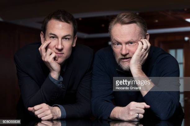 Actors Jared Harris and Tobias Menzies poses for a portrait during the 68th Berlin International Film Festival on February, 2018 in Berlin, Germany. .