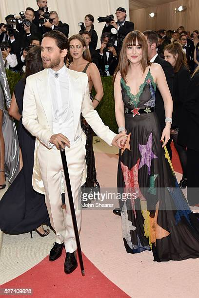 Actors Jared Leto and Dakota Johnson attend the 'Manus x Machina Fashion In An Age Of Technology' Costume Institute Gala at Metropolitan Museum of...