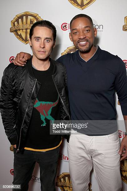 "Actors Jared Leto and Will Smith of 'Suicide Squad' attend CinemaCon 2016 Warner Bros Pictures Invites You to ""The Big Picture"" an Exclusive..."