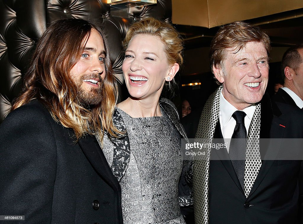 Actors Jared Leto, Cate Blanchett and Robert Redford attend the 2013 New York Film Critics Circle Awards Ceremony at The Edison Ballroom on January 6, 2014 in New York City.