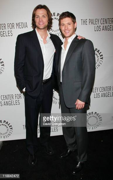 Actors Jared Padalecki and Jensen Ackles attend the Paley Center for Media's PaleyFest 2011 event honoring Supernatural on March 13 2011 in Beverly...