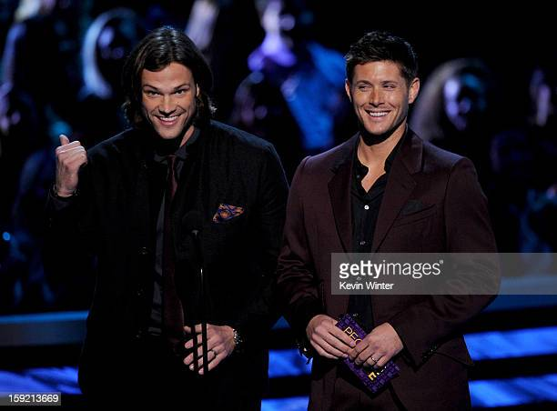 Actors Jared Padalecki and Jensen Ackles speak onstage at the 39th Annual People's Choice Awards at Nokia Theatre LA Live on January 9 2013 in Los...
