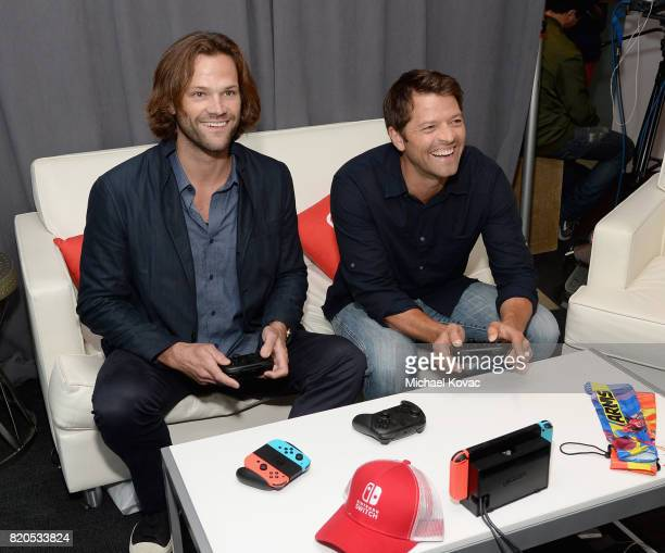 Actors Jared Padalecki and Misha Collins stopped by Nintendo at the TV Insider Lounge to check out Nintendo Switch during ComicCon International at...