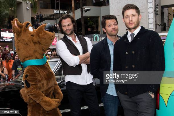 Actors Jared Padalecki Misha Collins and Jensen Ackles attend the Paley Center for Media's 35th Annual PaleyFest Los Angeles 'Supernatural' at Dolby...