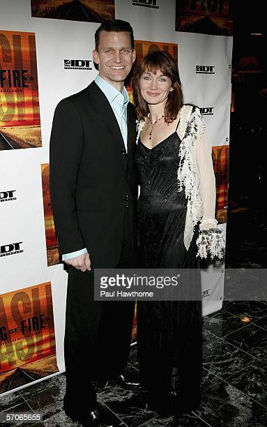 Actors Jarrod Emick and Lari White attend the after party for opening night of 'Ring of Fire' at the New York Marriott Marquis Times Square March 12...