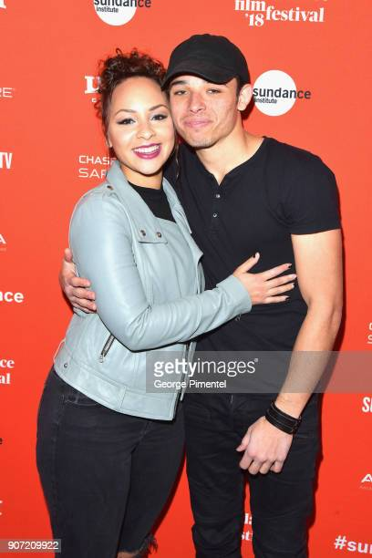 Actors Jasmine Cephas Jones and Anthony Ramos attend the 'Monsters And Men' Premiere during the 2018 Sundance Film Festival at Eccles Center Theatre...