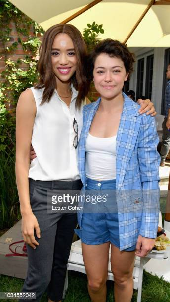 Actors Jasmine Savoy Brown and Tatiana Maslany attend the ICM Partners PreEmmy Brunch 2018 on September 16 2018 in Los Angeles California
