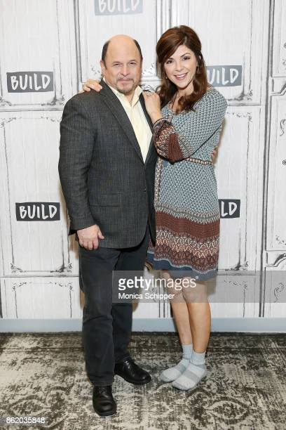 Actors Jason Alexander and Amy Pietz discuss Hit The Road at Build Studio on October 16 2017 in New York City