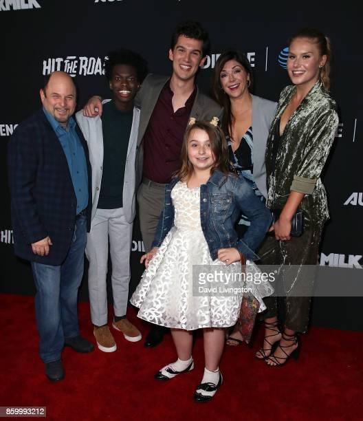 Actors Jason Alexander Tim Johnson Jr Nick Marini Maddie DixonPoirier Amy Pietz and Natalie Sharp attend the premiere of ATT Audience Network's...