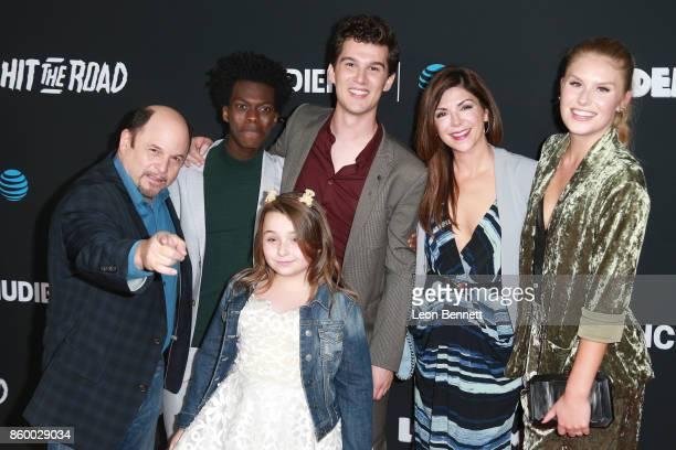 Actors Jason Alexander Tim Johnson Jr Nick Marini Maddie DixonPoirier Amy Pietz and Natalie Sharp attends the Premiere Of ATT Audience Network's...