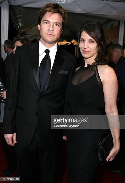 Actors Jason Bateman and Amanda Anka arrives to the 19th Annual Palm Springs International Film Festival Awards Gala Presented by Cartier held at the...