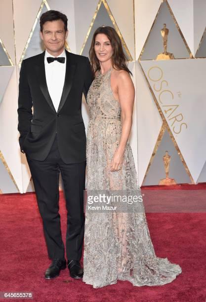Actors Jason Bateman and Amanda Anka attend the 89th Annual Academy Awards at Hollywood Highland Center on February 26 2017 in Hollywood California