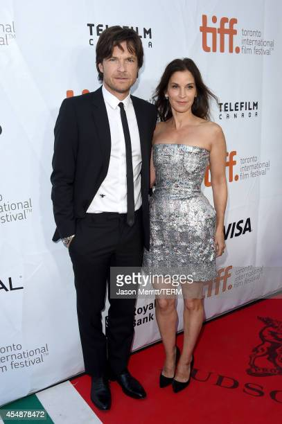Actors Jason Bateman and Amanda Anka attend the This Is Where I Leave You premiere during the 2014 Toronto International Film Festival at Roy Thomson...