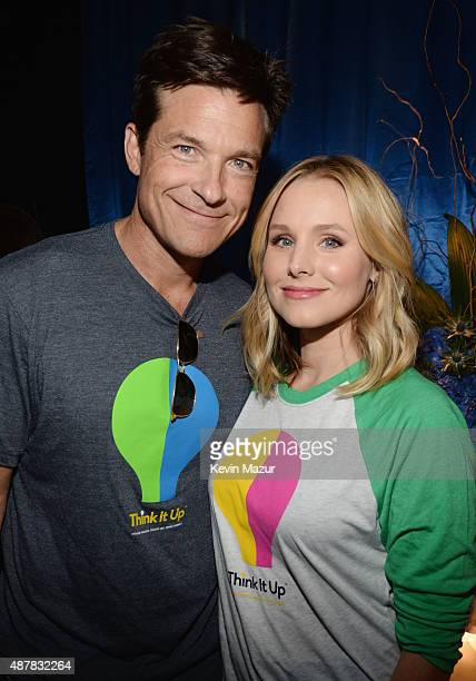 Actors Jason Bateman and Kristen Bell attend the Think It Up education initiative telecast for teachers and students hosted by Entertainment Industry...