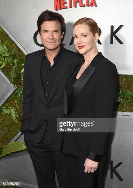 Actors Jason Bateman and Laura Linney attend the 'Ozark' New York screening at The Metrograph on July 20 2017 in New York City