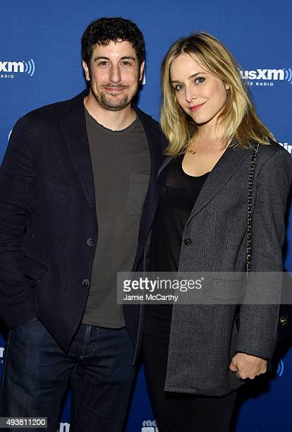 Actors Jason Biggs and Jenny Mollen attend Andy Cohen SiriusXM celebrate the launch of Cohen's New Exclusive SiriusXM Channel Radio Andy at PHD...