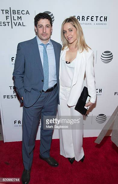 Actors Jason Biggs and Jenny Mollen attends the The First Monday In May world premiere at Tribeca Film Festival opening night at John Zuccotti...