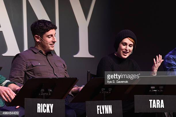 Actors Jason Biggs and Rumer Willis perform during 'Black List Live A Reading Of Hosers An AsYetUnproduced Sitcom featuring Jason Biggs Anthony Ramos...