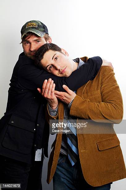 Actors Jason Biggs and Seann William Scott pose for portrait session to promote American Pie ` The Reunion on April 172012 in LondonEngland