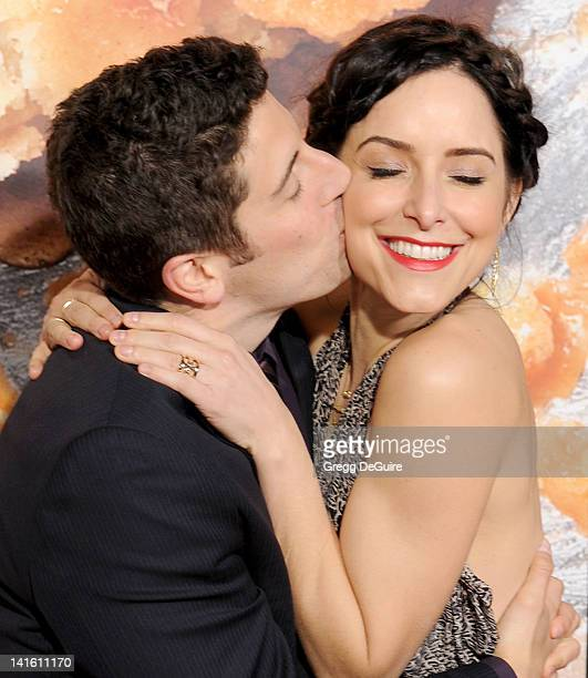 Actors Jason Biggs and wife Jenny Mollen arrive at American Reunion Los Angeles Premiere at Grauman's Chinese Theatre on March 19 2012 in Hollywood...