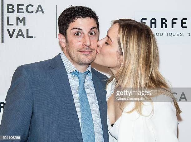 Actors Jason Biggs and wife Jenny Mollen attend 'The First Monday In May' World Premiere during Opening Night of 2016 Tribeca Film Festival at John...