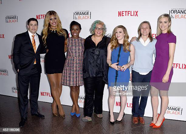 Actors Jason Biggs Laverne Cox Uzo Aduba Jenji Kohan Natasha Lyonne Netflix VP of Original Content Cindy Holland and actress Taylor Schilling attend...