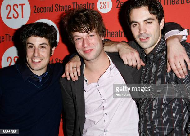 Actors Jason Biggs Peter Scanavino and Rhys Coiro attend the Boys Life opening night after party at Junior's on October 20 2008 in New York City