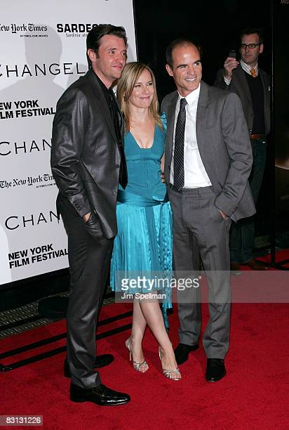 Actors Jason Butler Harner Amy Ryan and Michael Kelly attend the premiere of Changeling during the 46th New York Film Festival at the Ziegfeld...
