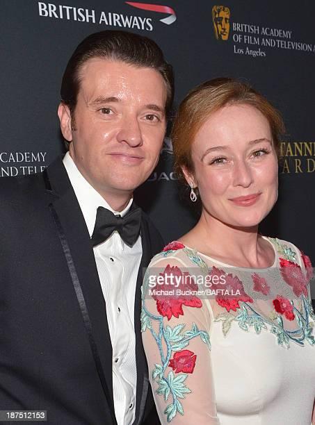 Actors Jason Butler Harner and Jennifer Ehle attend the 2013 BAFTA LA Jaguar Britannia Awards presented by BBC America at The Beverly Hilton Hotel on...