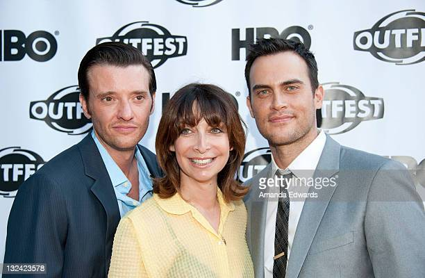 Actors Jason Butler Harner Illeana Douglas and Cheyenne Jackson arrive at the 2011 Outfest screening of The Green at The Directors Guild of America...