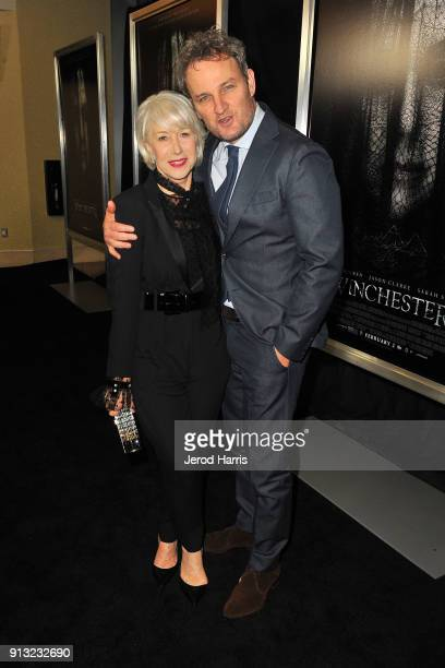 Actors Jason Clarke and Helen Mirren attend The Winchester Nationwide Psychic Reading on February 1 2018 in Los Angeles California