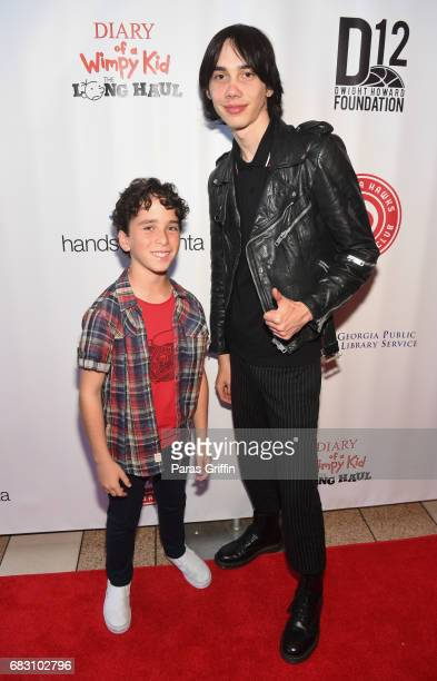 """Actors Jason Drucker and Charlie Wright attend """"Diary Of A Wimpy Kid: The Long Haul"""" Atlanta screening hosted by Dwight Howard at Regal Atlantic..."""