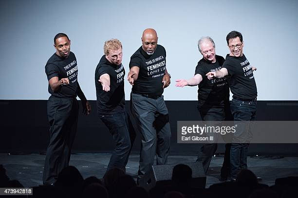 Actors Jason George Kevin McKidd James Pickens Jr Jeff Perry and Dan Bucatinsky perform during the 10th Annual Global Women's Rights Awards at...