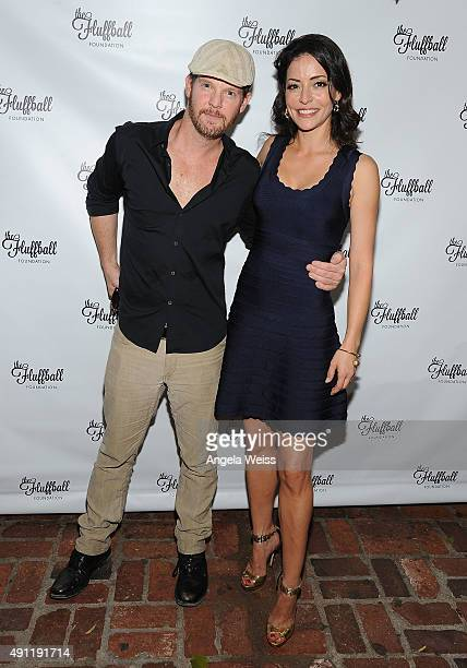 Actors Jason GrayStanford and Emmanuelle Vaugier attend The Fluffball 2015 at The Little Door on October 3 2015 in Los Angeles California
