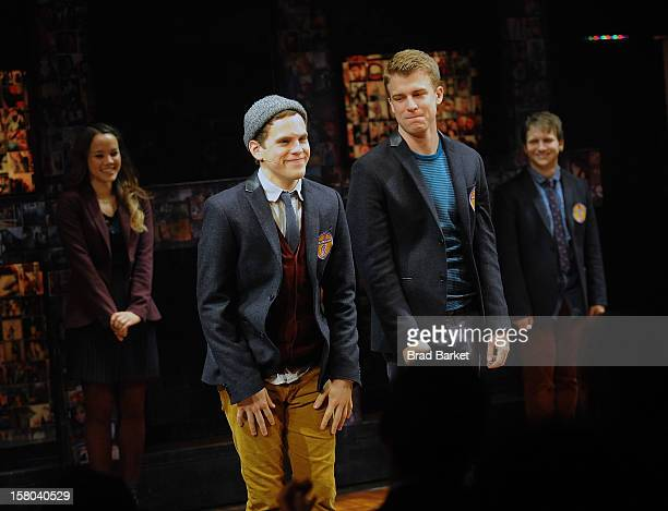 Actors Jason Hite and Taylor Trensch attend BARE The Musical Opening Night at New World Stages on December 9 2012 in New York City