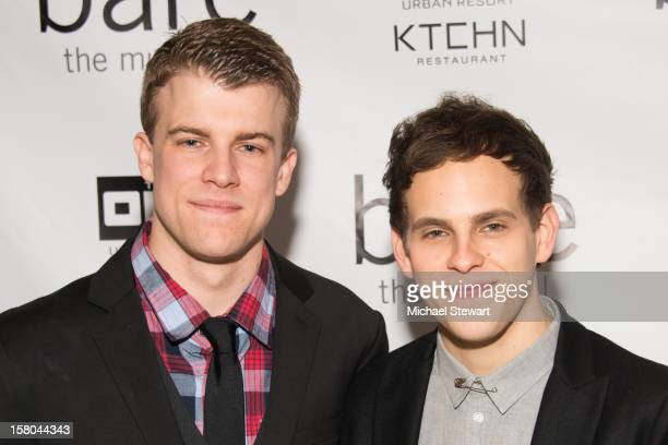 Actors Jason Hite and Taylor Trensch attend BARE The Musical Opening Night After Party at Out Hotel on December 9 2012 in New York City