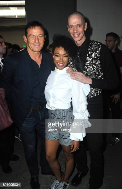 Actors Jason Isaacs Sonequa MartinGreen and Doug Jones during 2017 ComicCon International at San Diego Convention Center on July 22 2017 in San Diego...