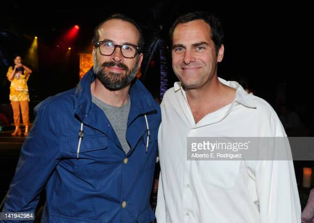 Actors Jason Lee and Andy Buckley attend Twentieth Century Fox Home Entertainment's Alvin and the Chipmunks Chipwrecked Bluray and DVD release party...