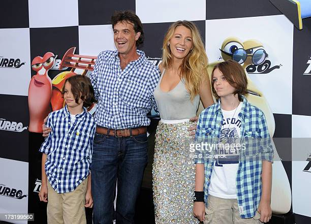 Actors Jason Lively and Blake Lively attend the Turbo New York Premiere at AMC Loews Lincoln Square on July 9 2013 in New York City