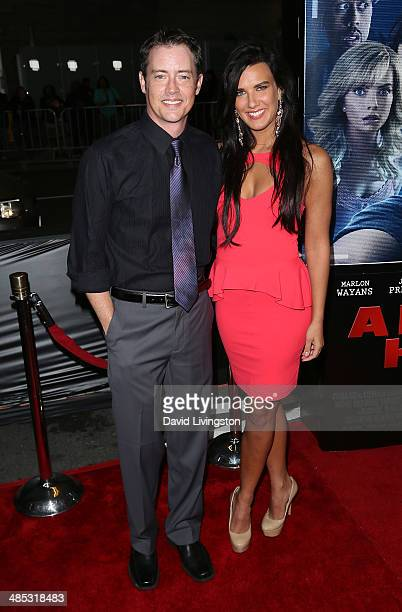 Actors Jason London and Natalie Burn attend the premiere of Open Road Films' 'A Haunted House 2' at Regal Cinemas LA Live on April 16 2014 in Los...