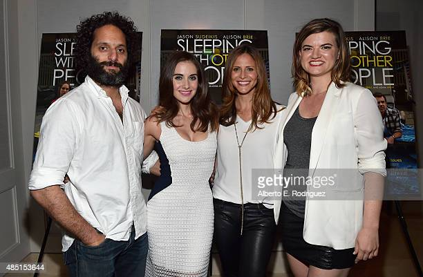 Actors Jason Mantzoukas Alison Brie Andrea Savage and writer/director Leslye Headland attend the Tastemaker screening of IFC Films' Sleeping With...