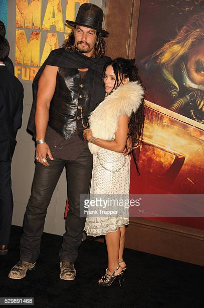 """Actors Jason Momoa and Lisa Bonet arrive at the premiere of """"Mad Max: Fury Road"""" held at the TCL Chinese Theater in Hollywood."""