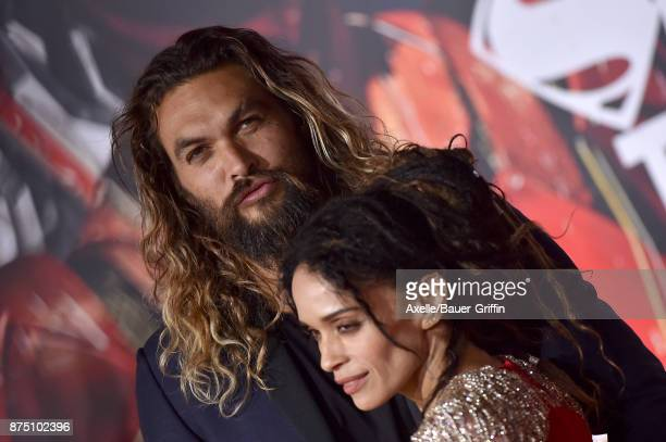 Actors Jason Momoa and Lisa Bonet arrive at the premiere of Warner Bros Pictures' 'Justice League' at Dolby Theatre on November 13 2017 in Hollywood...