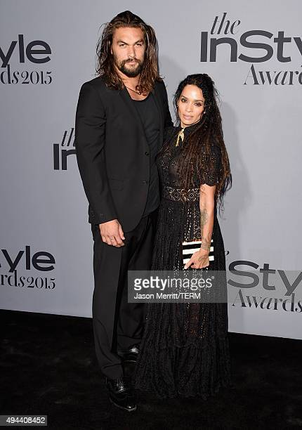 Actors Jason Momoa and Lisa Bonet attend the InStyle Awards at Getty Center on October 26 2015 in Los Angeles California