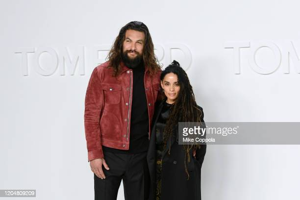 Actors Jason Momoa and Lisa Bonet attend the Tom Ford AW20 Show at Milk Studios on February 07 2020 in Hollywood California