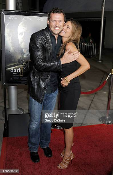 Actors Jason O'Mara and Paige Turco arrive at the Los Angeles premiere of Dark Tourist at ArcLight Hollywood on August 14 2013 in Hollywood California