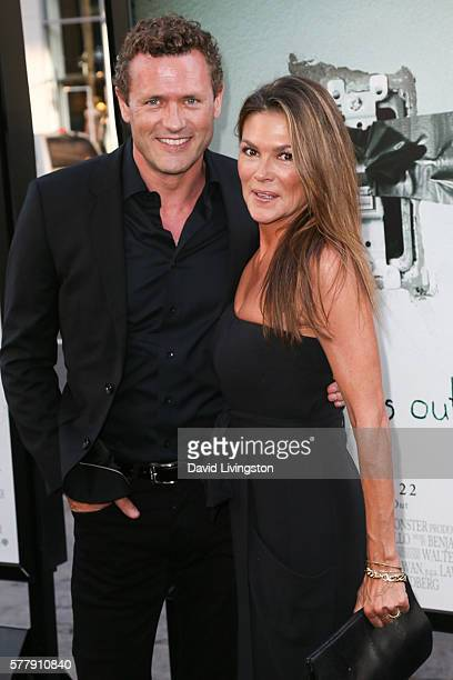 Actors Jason O'Mara and Paige Turco arrive at the premiere of New Line Cinema's Lights Out at the TCL Chinese Theatre on July 19 2016 in Hollywood...