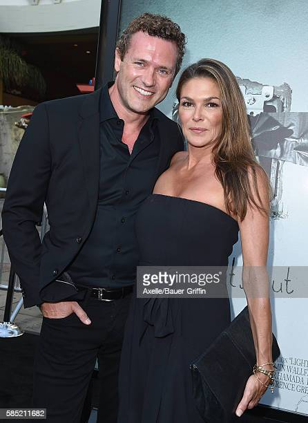 Actors Jason O'Mara and Paige Turco arrive at the premiere of New Line Cinema's 'Lights Out' at TCL Chinese Theatre on July 19 2016 in Hollywood...