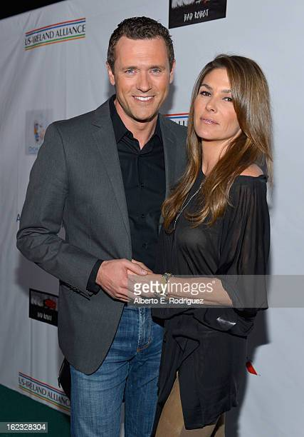 Actors Jason O'Mara and Paige Turco attend the 8th Annual Oscar Wilde Honoring The Irish In Film PreAcademy Awards Event at Bad Robot on February 21...